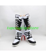 Suicide Squad Harley Quinn cos Cosplay Shoes Boots shoe high heel #TB026 - $46.00