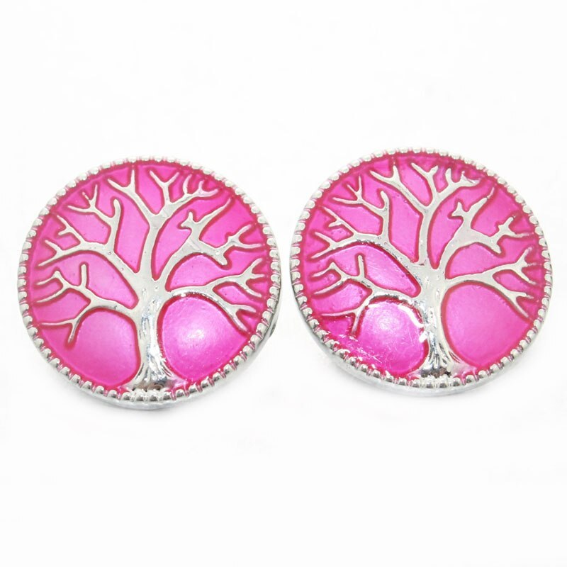 Primary image for Boom Life tree of Life Pattern Charms 18mm bohemian Snap Button For DIY Charms B