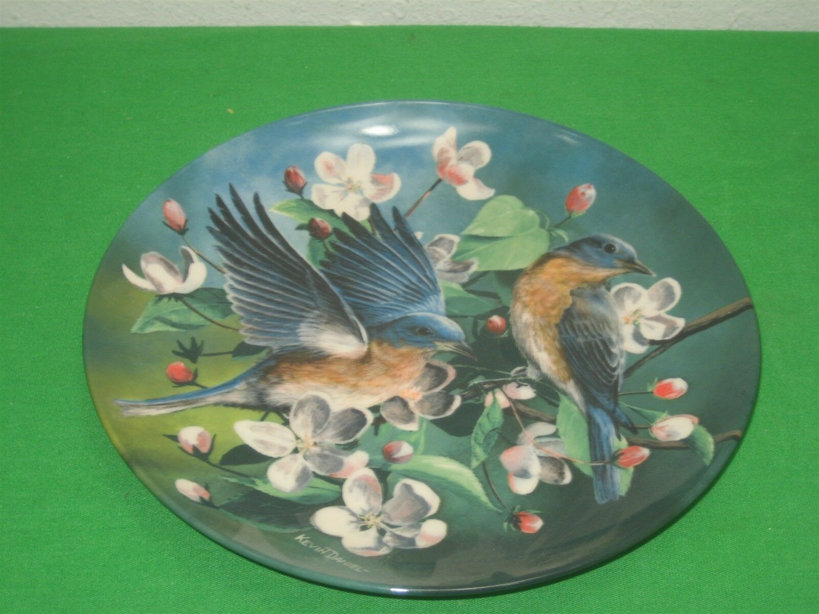 The Bluebird Collector Plate Signed 1986 Knowles Kevin Daniel Plate No 9245E