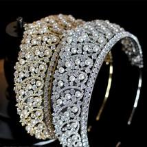 2019 luxury crystal new wedding hair accessories bride pearl crown / hea... - £76.18 GBP