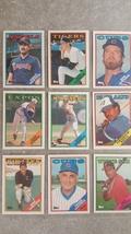 9 Topps 1988 Baseball Cards Chewing Gum Inc.Minton Robinson Sutcliffe Lu... - $4.79