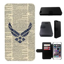 Air Force Iphone 6s PLUS wallet leather case, iphone 6s PLUS wallet case... - $17.81