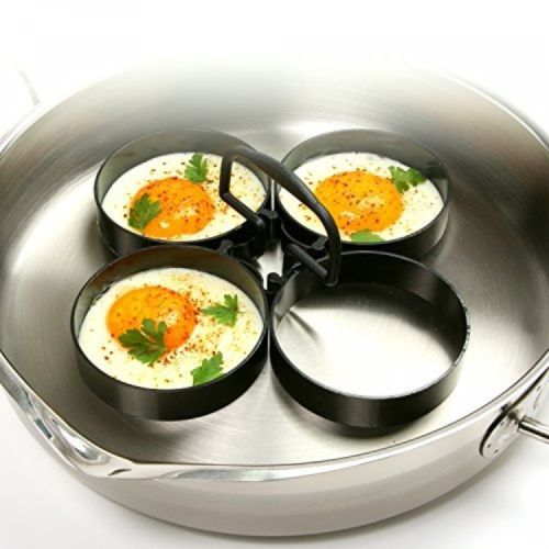 Nonstick 4-Piece Egg/Pancake Ring Set, Kitchen Breakfast Cooking, New