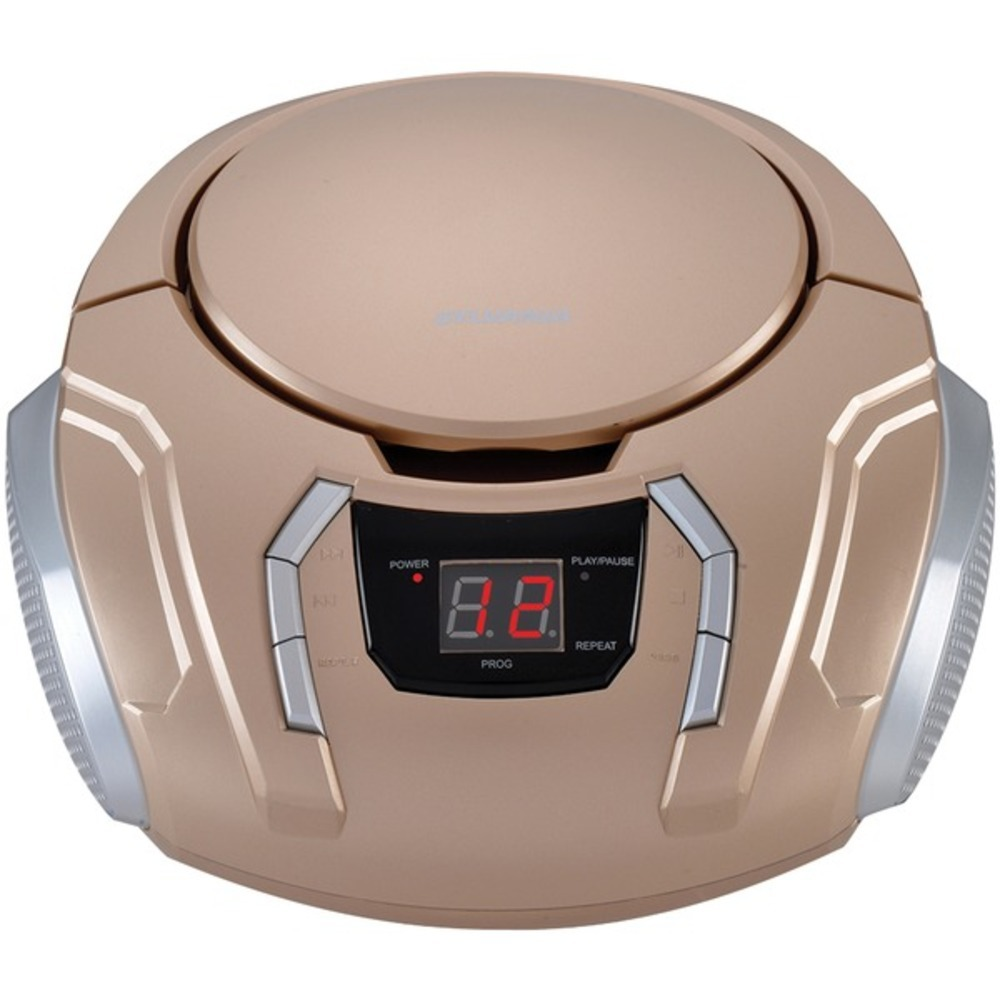 Primary image for SYLVANIA SRCD261-B-CHAMPAGNE Portable CD Player with AM/FM Radio (Champagne)