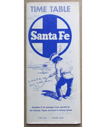 Santa Fe Railroad System Time Table 1966 Fall Winter - $9.99