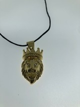 Leo Lion King Necklace Golden Stainless Steel - $35.64
