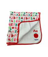 Gymboree Alphabet Apple Fruit Veggie Soft Cotton Baby Blanket Lovey EUC  - $39.59