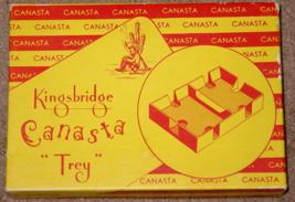 CANASTA CLEAR TRAY CARD HOLDER  # 4916 KINGSBRIDGE BY ATLANTIC 1950'S VI... - $28.00