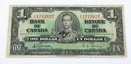 1937 Banco de Canadá Uno Dólar Billete (F) Fina Estado Recoger #58b - $197.00