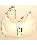 WHITE LEATHER COACH HANDBAG AND DUST BAG - $39.99