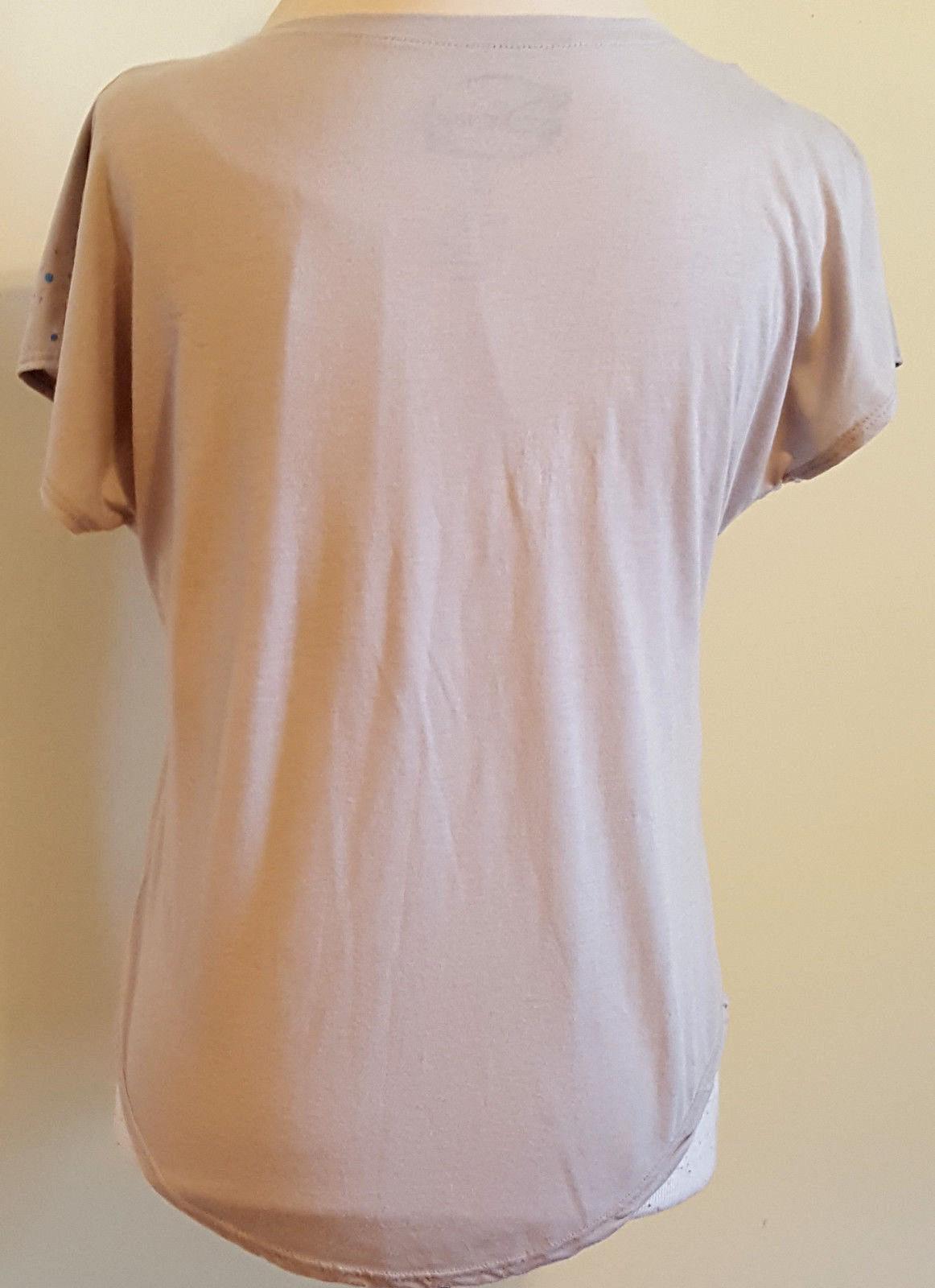 DISNEY RN 0100520 Women's Paint Splatter Mickey Mouse Loose Fit T-Shirt Size: M