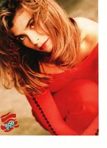 Paula Abdul Jordan Knight teen magazine pinup clipping red dress squatting