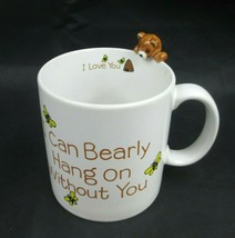 Muggamals by Applause 3D Mug Bear I can bearly hang on without you 1986s - $17.51
