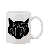 Crazy Cat Lady Mugs Cups Mugs & Funny Gift for Coffee Lovers Mug - $16.50