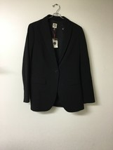 Anne Klein Suit Jacket Womens Sz 6 Long Sleeve 1 Button Lined Black Blaz... - $40.63