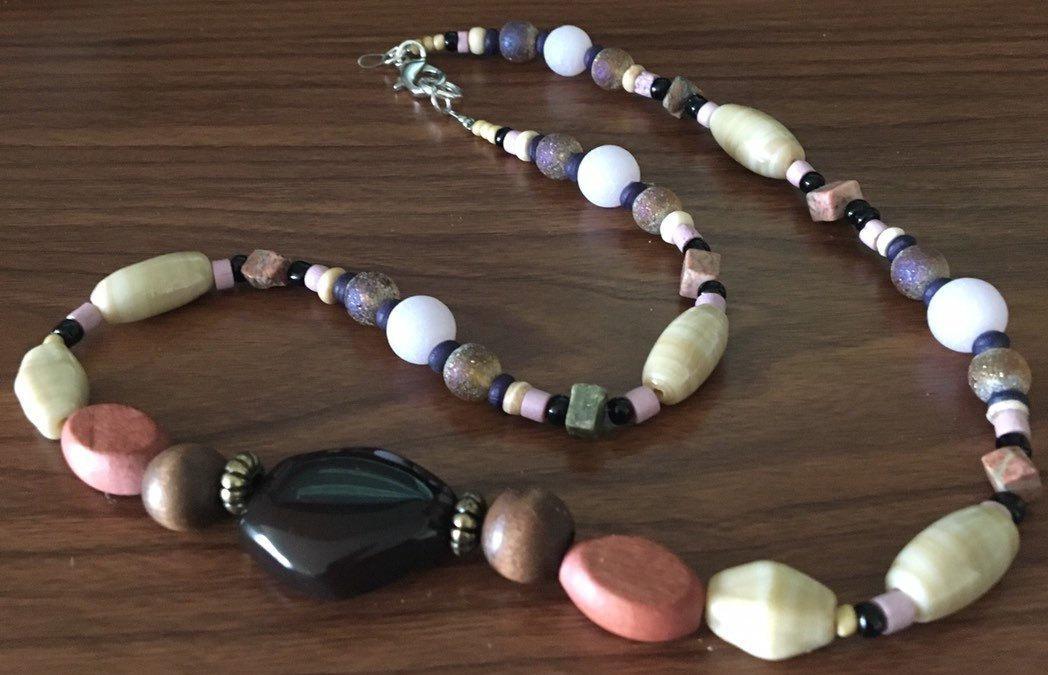 Agate Boho Beaded Necklace Set