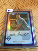 2011 Bowman Chrome Blake Snell Purple Refractor 1st Bowman - $9.90