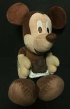 "RARE Brown Mickey Mouse Disney Sega Prize Redemption Plush 16"" Stuffed A... - $16.90"