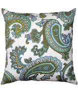 Pillow Decor - Tuscany Linen Forest Paisley Throw Pillow 22x22 - $79.95