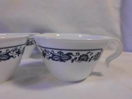 vintage 4 pc lot CORELLE by Corning Olde Town BLUE ONION pattern coffee tea MUGS - $9.99