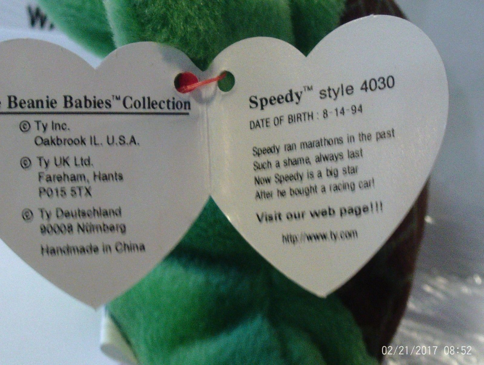 1ST Edition Beanie Babies Speedy the Turtle, No star no stamp double tush tag