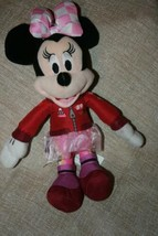 "Disney Minnie Mouse 10"" Auto Race Car Suit & TuTu #89 Plush Stuffed Doll Toy  - $7.44"