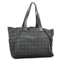 CHANEL New Travel Line Hand Bag Black CC Auth ar868 **Powder - $110.00