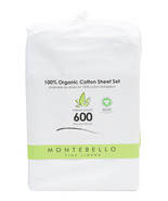 Montebello Fine Linens 600 TC Organic Cotton White Sheet Set King - $132.00
