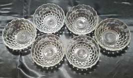 Vtg Anchor Hocking Depression Glass Bubble Clear,  6 Sm. Fruit Bowls cir... - $18.90