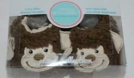 Baby Snoozies 1300Monk Brown Tan Cozy Sherpa Booties Monkey Size 0 to 3 Months image 2
