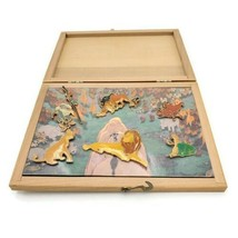 The Disney Store The Lion King Pin Collection Wood Box Set 1998 Set of 6 Pins - $69.25
