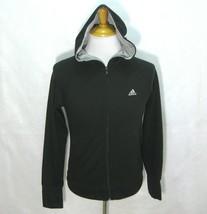 ADIDAS Women's Solid Black Athletic Full Zip Hoodie Sweatshirt (Size Med... - $14.95