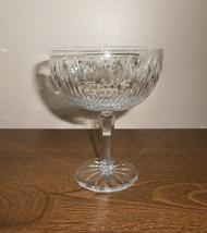 Lenox Shenandoah Crystal Champagne Tall Sherbet Glass 1983-1985 Vintage USA Made - $9.50