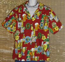 Hilo Hattie Hawaiian Shirt Red 1X - $29.95