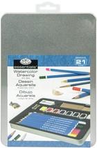 Watercolor Pencil Art Set W/Tin-  - $18.42