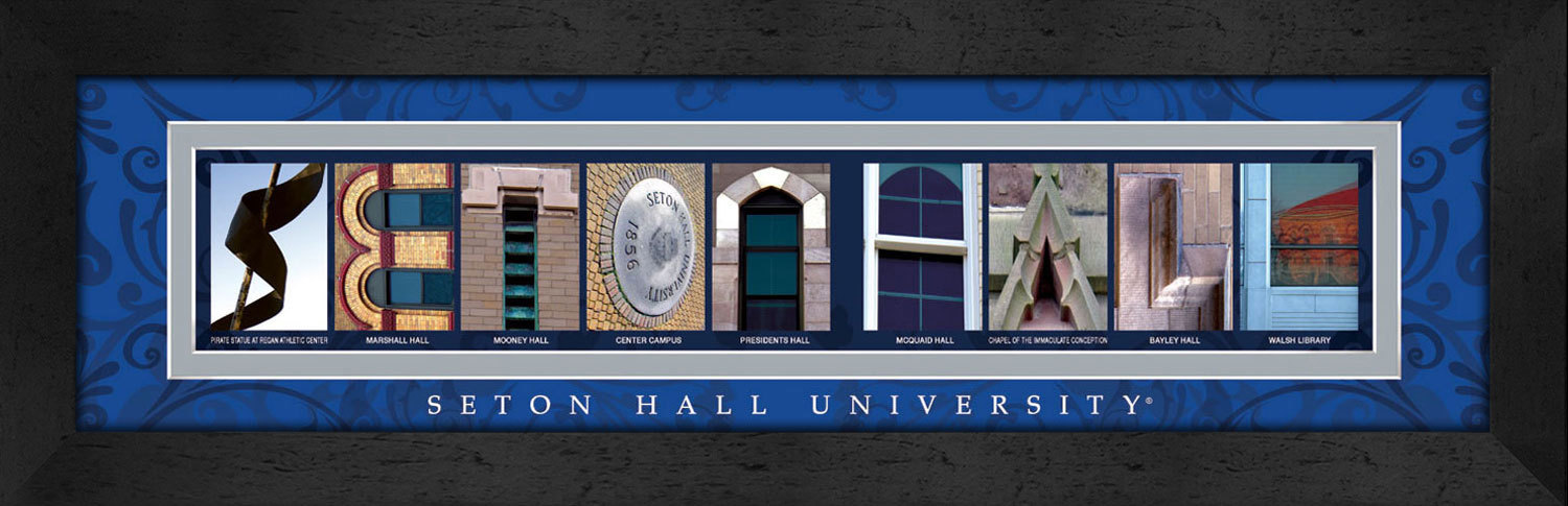 Primary image for Seton Hall Officially Licensed Framed Campus Letter Art