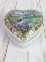 "HERITAGE HOUSE VALENTINE SERENADES 1991 PORCELAIN MUSIC BOX ""THE WAY WE... - $10.39"