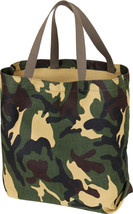 Camo Tote Shopping Bag Shoulder Canvas Reusable Grocery Carry All Milita... - $9.99