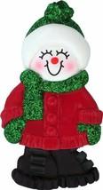 Female Name Snowgirl Amanda Personalized Christmas Tree Ornament - $10.95