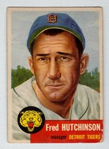 1953 Topps #72 Fred Hutchinson Detroit Tigers good condition $30 BV - $7.16