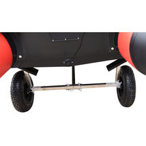 Stainless Steel Boat Launching Trailer Wheels Hand Dolly Small Inflatable Boat image 8