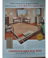 Vintage Congoleum Gold Seal Rugs By the Yard Magazine Advertisements 1937 - $5.99