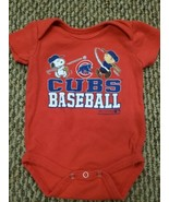 Chicago Cubs Peanuts Toddler Infant Creeper One Piece Shirt 0/3 Months G... - $9.89