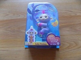 Fingerlings Purple Baby Monkey Sydney Touch Motion Sounds Interactive To... - $22.00