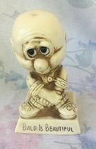Vintage 1974 W & R Berries BALD IS BEAUTIFUL Figurine - $7.70