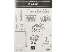 Stampin' Up! 25 Again Photopolymer Cling Stamp Set #146435 - $16.99