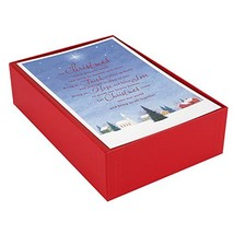 Hallmark Christmas Boxed Cards, Church Blessings 40 Cards and 40 Envelopes - $18.76