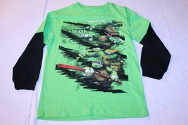 Youth Teenage Mutant Ninja Turtles L (10/12) L/S T-Shirt Tee (Green) Nic... - $5.89