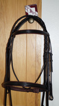 Bobby's Tack Full Sz Black with DARK Brown Padding Bridle w/Laced Reins - $144.00
