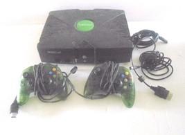 Xbox Console Complete W/ 2 Green Controllers Bundle Original - $68.47
